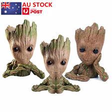 3PCS Guardians of The Galaxy Baby Groot  Figure Flowerpot Pen Pot Toys Decor AU
