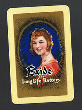 Swap Playing Cards 1 VINT ENG  EXIDE  BATTERY  ART  BY  WILLIAM  BARRIBAL BA25