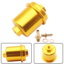 Gold Inline Fuel Filter High Flow 100 Micron Cleanable Stainelss mesh For Honda