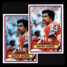 "1980 TOPPS ""HAVEN MOSES"" BRONCOS #496 NM-MT OR BETTER! (2) COMBINED SHIP!"