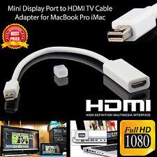 Mini Display Port VGA to HDMI Cable Converter Adapter HDTV Apple Mac Laptop Bt08