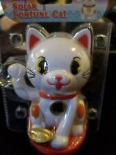 Solar Powered Dancing Toys Fortune Cat White Solar Dancing Bobble Head Toys