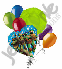 7 pc Teenage Mutant Ninja Turtles Balloon Bouquet Decoration TMNT Love Super