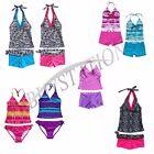 Kids Girls Halter Tankini Bikini Bathing Suit Swimwear Swimsuit Swimming Costume