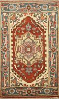 Geometric 2x3 Indo Heriz Oriental Area Rug Hand-Knotted Traditional Wool Carpet