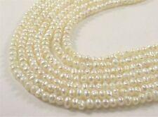 3mm B Grade Natural White Potato Freshwater Seed Pearl Beads, Bridal Pearl(#528)