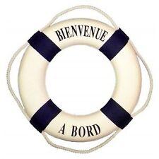 Bouée 25 cm décorative, décoration marine, Bienvenue à bord, style marin neuf