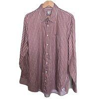 Peter Millar Mens Multi Color Stripes L/S Button-Down Shirt XL Cotton EUC