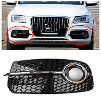 Left SQ5 Style Fog Light Grill Grille For AUDI Q5 13-17 Don't Fit SQ5 & SLINE BU
