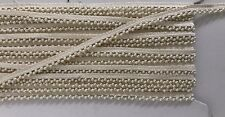 ATTRACTIVE INDIAN TINY DOUBLE CREAM PEARL BEADS ON CREAM LACE TRIM - SOLD by MTR