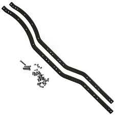 Black Carbon Fiber Chassis Frame Rails Set For RC 1/10 Axial SCX10 Crawler Car