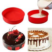 """10"""" Silicone Bakeware Round Cake Mould Pan Muffin Bread Pizza Pan Baking Mold"""