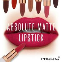 12 Colors Absolute Velvet Matte Lipstick Long Lasting Waterproof Pigment Makeup