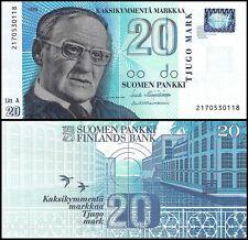 Finland 20 Markka Banknote, 1993, P-123, UNC