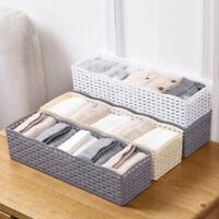 5 Cells Plastic Organizer Storage Box Tie Bra Socks Drawer Cosmetic Divider New