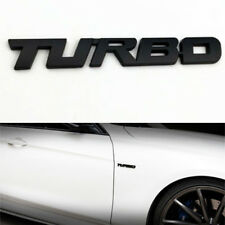 Black Car Auto Metal 3D Turbo Letter Emblem Badge Logo Sticker Fender Decal