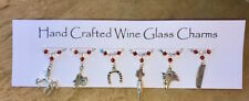 Horse themed Wine Glass Charms - Equestrian Gifts - Stocking Fillers - Swarovski