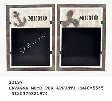 Lavagna da cucina memo in metallo e legno per appunti da appendere