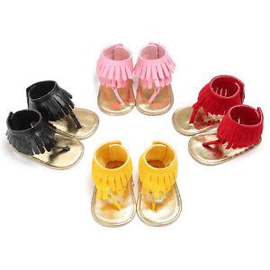 Newborn Baby Girl Crib Shoes Infant First Shoes Flip Flops Summer Sandals 0-18 M