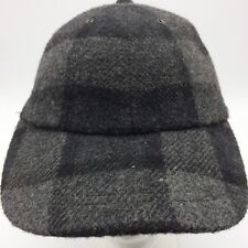The GAP Vtg Gray Plaid Wool Blend Cap Hat Long Bill Size S/M Adjustable Taiwan