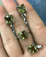 925 Sterling Silver Handmade Authentic Turkish Alexandrite Ladies Set