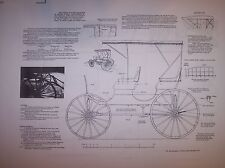 surrey with the fringe on top model wagon plans  horse drawn