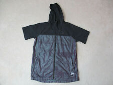 Puma Jacket Adult Medium Black Purple Hooded Full Zip Coat Outdoors Mens