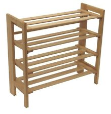 Winsome Wood Foldable 4-Tier Shoe Rack, Natural , New, Free Shipping