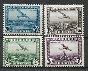 "BELGIUM 1930 Beautiful set 4 New stamps* . "" Air Mail ""       (7801)"