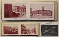 Leporello Liliput-Album von Triest um 1900 Italien Landeskunde Geografie sf