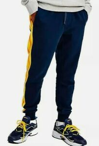 TOMMY Jeans Rib Insert Jogging Bottom Sweat Pants in Twilight Navy DM0DM11471