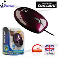 New Genuine Tuscani Optical Mouse HD-M324s (Wine)