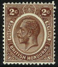 SG 127 BRITISH HONDURAS 1923 - 2c BROWN - MOUNTED MINT