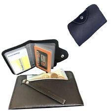 Portafoglio in pelle nero uomo con porta carte di credito tessere portamonete