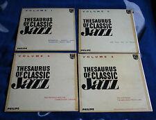 THESAURUS OF CLASSIC JAZZ VOL I - IV UK 4LP PHILIPS, MIFF MOLE , THE REDHEADS..