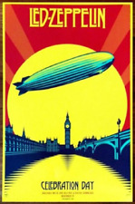 Led Zeppelin Celebration Day Ltd Ed Discontinued Rare Poster Shepard Fairey Obey