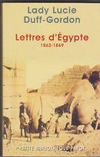 Lettres D'Egypte 1862-1869 - Lady Lucie Duff-Gordon