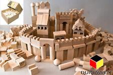 Holzbausteine 220 Stück XL  Buchenholz Bauklötze Holzklötze Holzspielzeug Natur