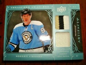 09/10 Artifacts Sidney Crosby Treasured Swatches Jersey Patch /25