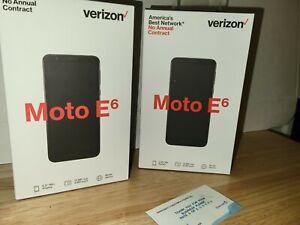 Motorola Moto E6 - 16GB - Starry Black (Verizon) (Single SIM) (Lot Of 2)