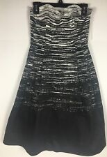 Calvin Klein Dress Size 4 Fit and Flare Pleated Skirt Strapless $128 NWT