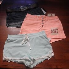 Womens/JUNIORS Size 3-5/5 Shorts 3 Pairs BRAND NEW! l.e.i. & No Boundaries