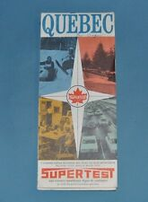 Supertest Oil Gas Quebec Road Map 1969