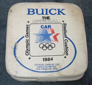 1984 LA Olympics STADIUM CUSHION Collectible Souvenir BUICK Official Car Sponsor