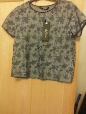 LUXZUZ GREY & BLUE SIZE 10 TOP BRAND NEW WITH TAGS RRP £39.99