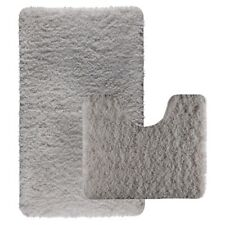 Luxury 2pcs Bath Mat Sets Non Slip Water Absorbent Bathroom Rugs