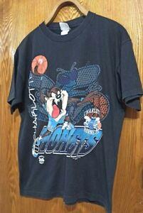 Vintage  1996 NBA Charlotte Hornets T-Shirt Black XL    USA