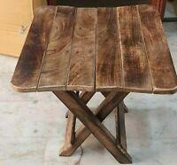 Indian Wood Solid Sheesham Mahogany Finish Folding Table Wood Dining Table