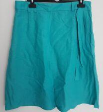 Size 12 Skirt E-VIE Aqua Blue/Green LINEN Blend Immaculate Ladies Casual
