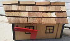 "Amish Crafted ""Natural Wood Look Blk Trm"" Barn Style Mailbox - Lancaster Cnty PA"